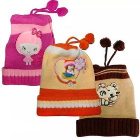 Touca Infantil Inverno Gorro Lã 3d Kit 5 Pçs Menino Menina 66c4257d257