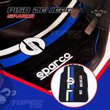 Piso De Jebe Sparco Rojo Azul Auto Tuning Racing 4 Piezas