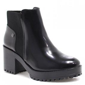 Bota Ankle Boot Via Marte Verniz (nota Fiscal) | Zariff