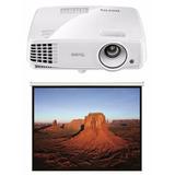 Proyector Benq Ms527 3d Blu-ray + Pantalla 100 2 X 1,5 Mts