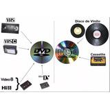 Traspasos De Video Hi8 ,vhs,long Play,mini Dv,vhs-c,