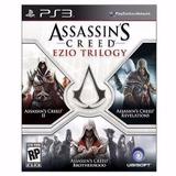 Assassins Creed Ezio Trilogy Física Ps3 Lacrado Trilogia