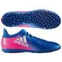 Tenis Guayos X 16.3 Tf Azul Adidas + Cupón Regalo