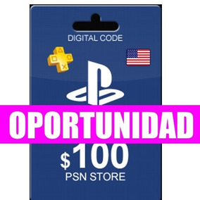 Tarjeta Playstation Network Psn Usd 2 De 50 Dolares 100 Uss