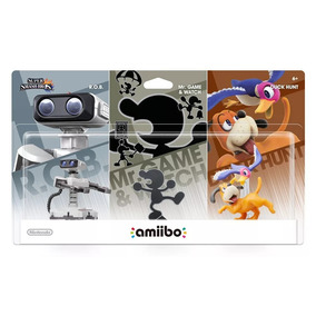 Kit Super Smash Bros Amiibo Rob Duck Hunt Mr Game Wiiu 3ds