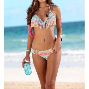 a827bb69e8b8 Bikini Triangulo Con Flecos Once en Mercado Libre México