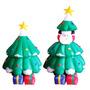 Inflable Papa Noel Arbol De Navidad Decoracion Hogar Fiestas