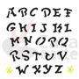 Stencil Acetato Para Pintura Opa 14x14cm - 976 Alfabeto Iv