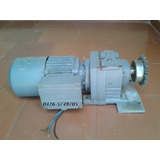 Motor1/2 Hp 3300rpm Triasico Con Reductor 36rpm Made Germany