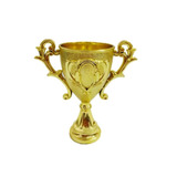 12 Mini Troféu Dourado Lembrancinha Decoração