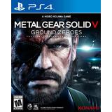 Metal Gear Solid V Ground Zeroes Juego Ps4 Nuevo Fisico