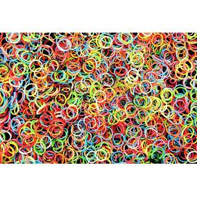Elastico Silicone Colorido Liguinha Atacado 12 Duzias 144pct