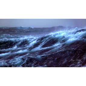 Olas En Tormenta Marina. Cuadro Fotográfico 50x70 Cm