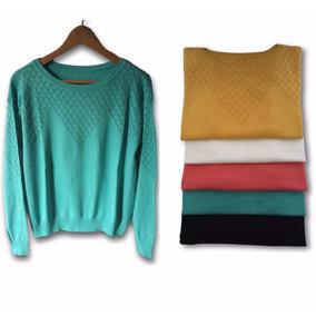 Sweaters De Hilo Y Lycra - Sacos Pullover Mujer