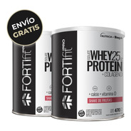Pack Fortifit Pro Whey Protein Isolate Shake De Frutas