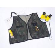 Juguete Kit Explorador Chaleco Binocular Linterna Didactico