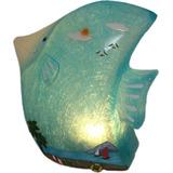Luminária / Abajur Led Peixe Azul - Quarto Bebê E Infantil