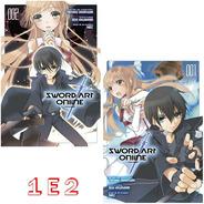 Sword Art Online Aincrad 1 E 2! Mangá Panini! Novo E Lacrado