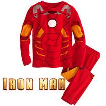 Pijama Niños Ironman Tipo Disfraz Gratis Obsequio