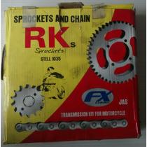 Kit Relação Completa Biz 100 - Rks - Ks/es - Kit Transmissão