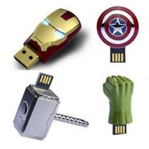 Memoria Usb Capitan America Hulk Thor Ironman 16 Gb Marvel