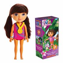 Muñeca Dora Gimnasta Mattel Y Rompecabezas Exploradora