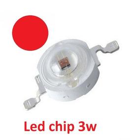Super Power Led Chip 3w Vermelho - Frete 9,00