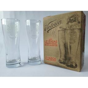 Vasos De Vidrio Calavera Cerveza Victoria