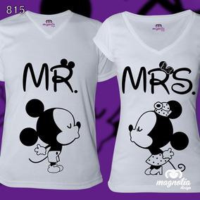 Juego De 2 Playeras Personalizadas Pareja Mickey Minie Mouse