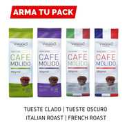 Arma Pack Café Molido 4 Bolsas De 250 Grs   Viaggio Espress
