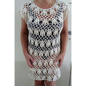Vestido Tejido Crochet Hilo Algodón