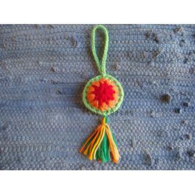 Pack X 10 Llaveros Tejido Crochet Mandala Colgante Souvenirs