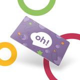 Tarjeta Oh! Gift Card $3000. Holder Baby. Sobre Premium