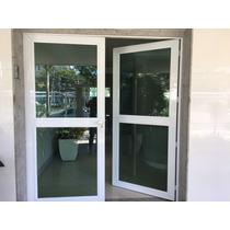 Portas De Alum C/ Vridro Lamin Verde Med 2x2.2mt 1x2mt 3port