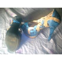 Zapatos Turqueza Numero 36 Una Sola Postura