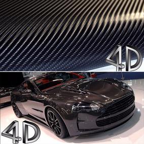 Adesivo Fibra De Carbono 4d (1,5m X 1m) - Frete Grátis