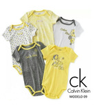 Set De 5 Bodys Calvin Klein Original P/niñas De 3-6 Meses