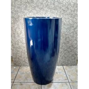 Vaso De Fibra / Estilo Ceramica Vietnamita 90cm Altura