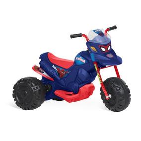 Moto Elétrica Homem Aranha Infantil Azul 6v Bandeirante 2803