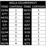 Lote De 30 Tintes Con Peroxido Por Tubo Color Perfect Wella