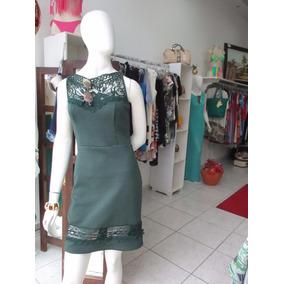 Vestido Casual C/detalhe Em Grippir - Tam. M - $ 199,00