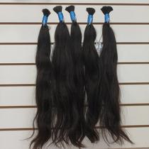 Cabelo Humano Natural Indiano 60-65 Cm 50 Gramas Mega Hair
