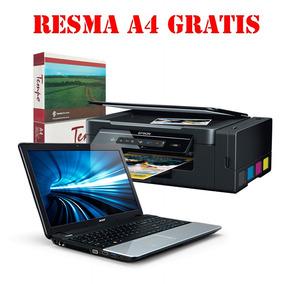 Oferta Notebook Acer+multunción Wifi+resma A4 Gratis