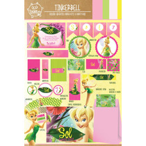 Kit Imprimible Personalizado Tinkerbell Deco Y Candy Bar !