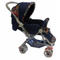 Carrinho De Bebê Berço E Passeio Reversível Color Baby Azul