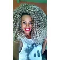 Cabelo Mega Alongamento Aplique Cacheado Afro Faz Uma Cabeça