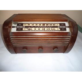 Radio Rca A Valvulas - Caja De Madera - Funcionando