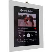 San Valetin Cuadro Spotify Personalizado Enamorados Con Foto