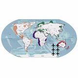 Quadro Mural Fotos Mapa Mundi Metálico+ 6 Imãs Frete Grátis