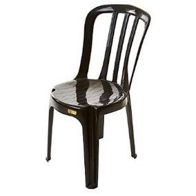 Kit 08 Cadeiras Plasticas Bistrô Preta